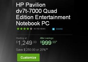 Laptop HP Pavilion dv7t-7000 Quad Edition-precio