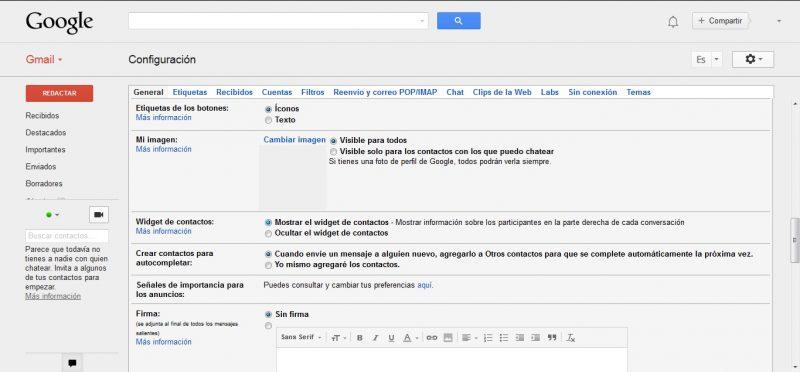 widget contacto gmail
